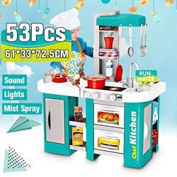 72,5 cm Höhe Große Größe Küche Spielset Pretend Spielen Spielzeug Chef Kochen Set 49 stücke/53 stücke Zubehör Geschenke für Kinder Kinder