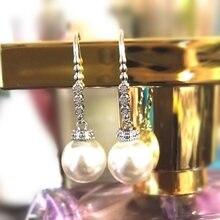 Huitan Elegante Imitation Perle Ohrringe Frauen Hochzeit Party Feine Geburtstags Geschenk Einfache Stilvolle Schmuck Dame Mode Ohrringe
