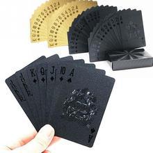 Высокое качество, прочные пластиковые игральные карты, водонепроницаемая Золотая покерная коллекция, черный бриллиант, карты для покера, горячий подарок, стандарт