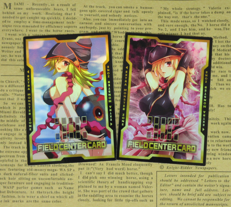 2pcs/set Gagaga Girl Field Center Cards Yu-Gi-Oh! ZEXAL Sexy Foil Orica Collectible Game Card