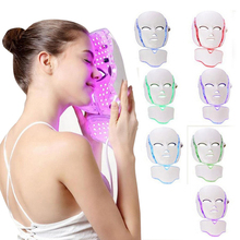 Beauty Photon LED Facial Mask Therapy 7 colors Light Skin Care Rejuvenation Wrinkle Acne Removal Face Beauty Spa heating light machine for face messager acne spot skin rejuvenation light photon led therapy bacteria killing removal improve