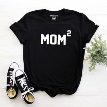 Harajuku Mom2 Shirt Mothers Day Gift Idea Top Mommy Mama T Tee Ladies Women Present Baby Shower Pregnancy Announcemen