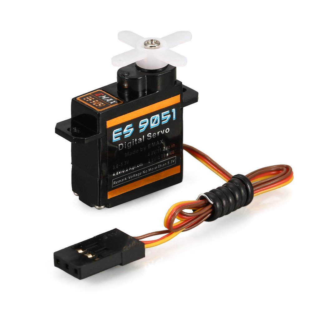 1pcs EMAX ES9051 4.3g Digital Plastic Gear Servo 4.8V 0.8kg 0.09 Sec/60 Degree for RC FPV Fixed Wing Airplane Copter Accessories