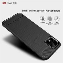Ultra Thin Carbon Fiber Case For Google Pixel 4XL 4 3AXL 3A Soft Silicone Bumper TPU 2XL 2 Shockproof Capa