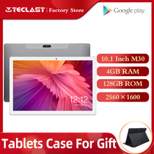 Tablety Teclast M30 Tablet PC 10.1 Cal android 2560*1600 IPS 4G telefon komórkowy Notebook 4GB RAM 128GB ROM type c GPS