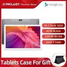 태블릿 Teclast M30 태블릿 PC 10.1 인치 Andriod 2560*1600 IPS 4G 전화 통화 노트북 4GB RAM 128GB ROM Type C GPS