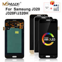 Super AMOLED For Samsung Galaxy J3 2016 Display J320 LCD Touch Screen Replacement Parts For Samsung J320F J320H SM-J320F LCD
