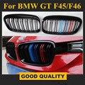 F45 глянец Черный M Цвет Твин-планка гриль сетка для BMW 2 серии 5-seat Active Tourer и 7-seat F46 Gran Tourer передний бампер решетка
