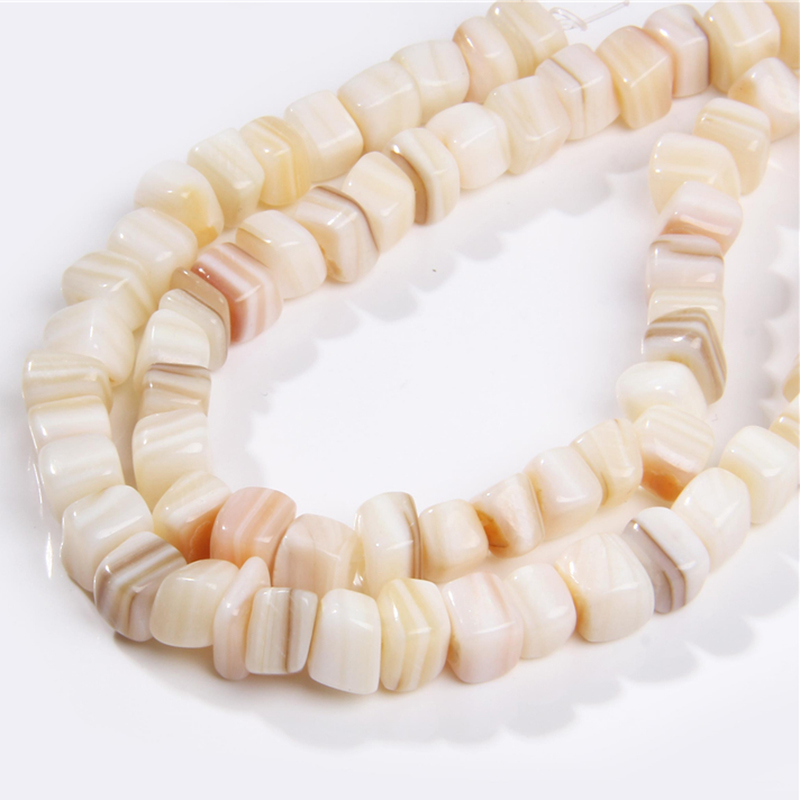 Natural Gravel Irregular Square Shell Beads Shell MOP Loose Beads 15'' Per Strand Fit DIY Necklace Bracelet Accessries Jewelry