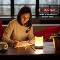 Touch Pat Licht Bluetooth Lautsprecher Tragbare Player Drahtlose Lautsprecher Bunte LED Nacht Licht Nachttisch Lampe für Besser Schläft