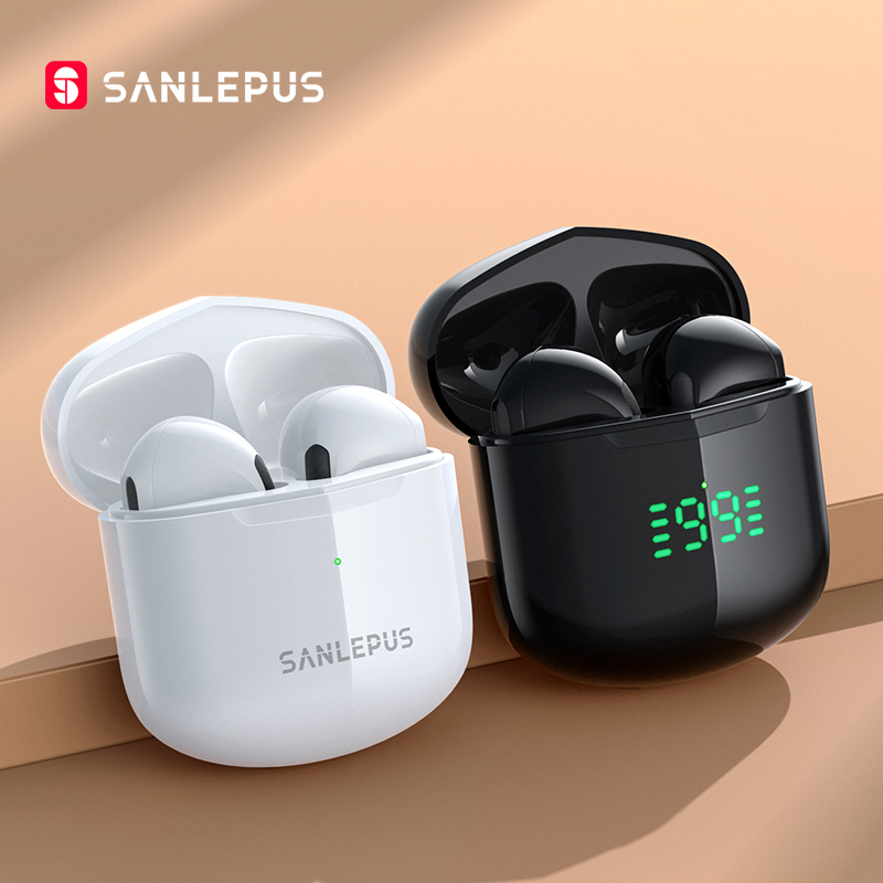 SANLEPUS TWS Earphones Bluetooth Wireless Headphones Sport Headset HiFi Stereo Gaming Earbuds For iPhone Android Xiaomi Honor