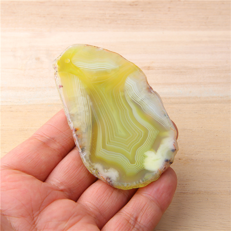 1pc Irregular Natural Green Agates Slice Stone Minerals Slice Healing Crystals Jewelry Making For Home Decoration Handmade Bulk