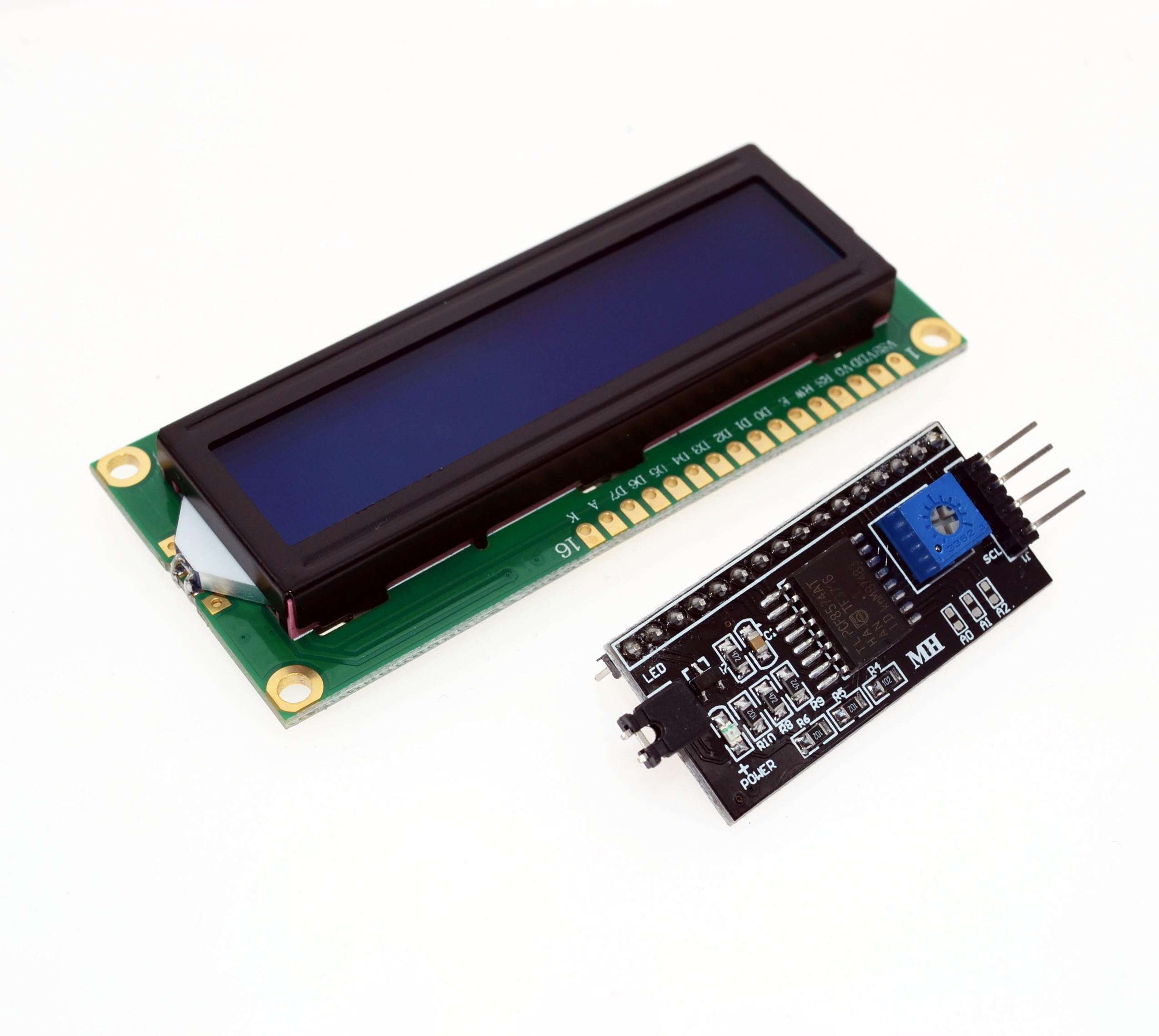 Free Shipping 1602 16x2 HD44780 Character LCD /w IIC/I2C Serial Interface Adapter Module.We Are The Manufacturer