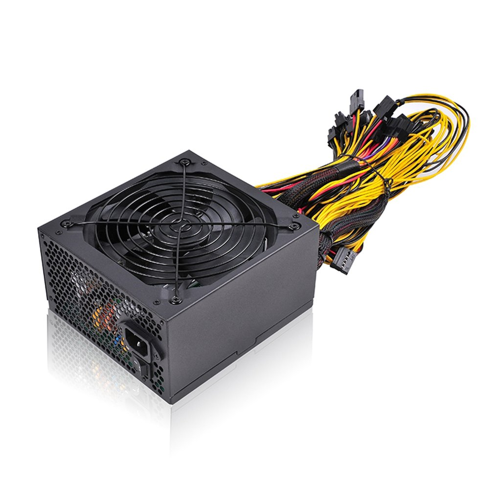 1600W 200-240V Graphics Card Mining Machine Power Multi-channel Durable 6 Card Atx Mining Power Supply image