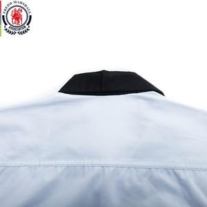 Image 5 - Fredd Marshall 2020 Fashion Long Sleeve Patchwork Striped Shirt Men Casual Social Male Shirts 100% Cotton Camisa Masculina 220