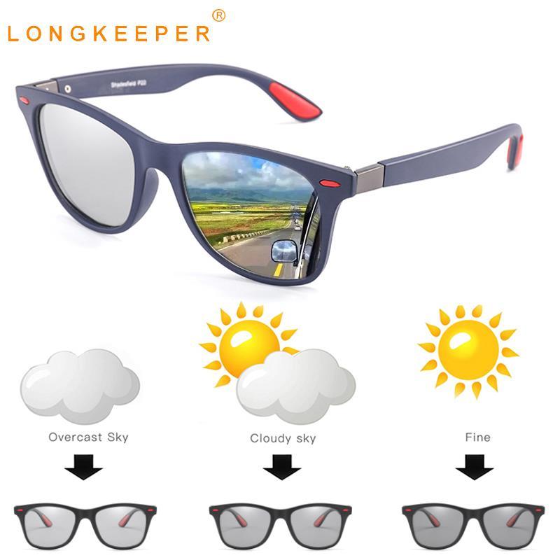 New Photochromic Sunglasses Men Classic Rivet Polarized Sun Glasses Chameleon Glasses Male Driving Goggles Gafas De Sol UV400