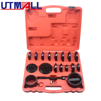 23 pcs Front Wheel Drive Bearing Removal Press Adapter Puller Pulley Tool Kit automotive front wheel bearing hub removal tool set at2156