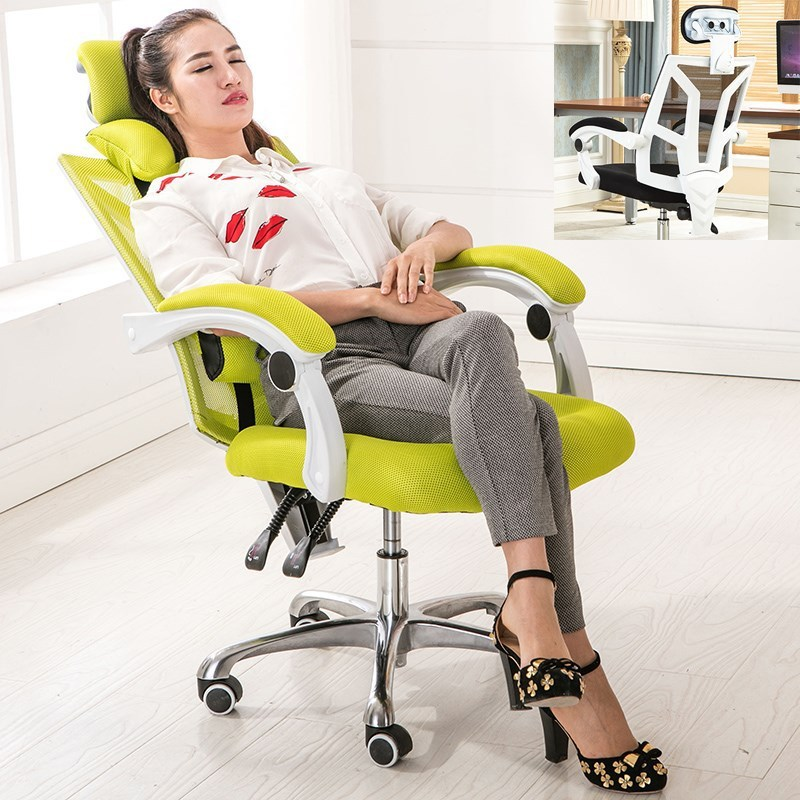 Computer Chair Household To Work In An Office Chair Can Deck Chair Ergonomic Screen Cloth Staff Member Concise Lift Chair