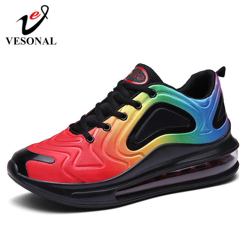 VESONAL Brand 2019 Fashion Lycra Sneakers Men Casual For Male Shoes Adult Autumn New Unisex Running Shoes Footwear High Quality
