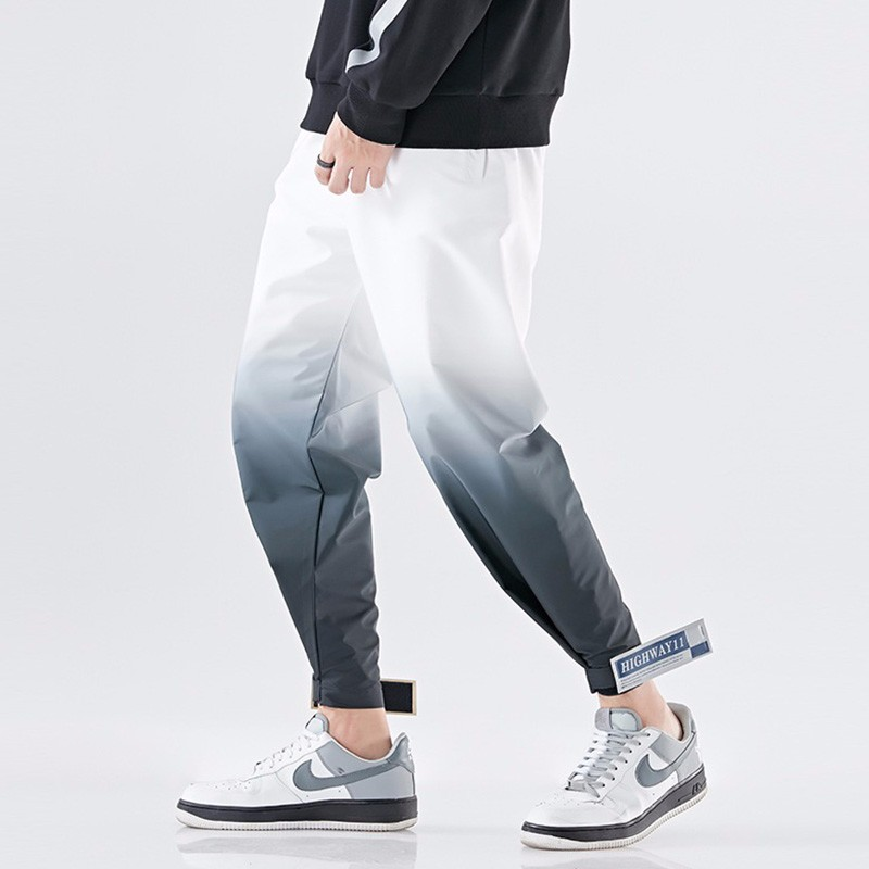 Original Design Men Street Cargo Pants Fashion Hip Hop Streetwear Pants Panelled Elastic Waist Casual Joggers Harajuku Trouser