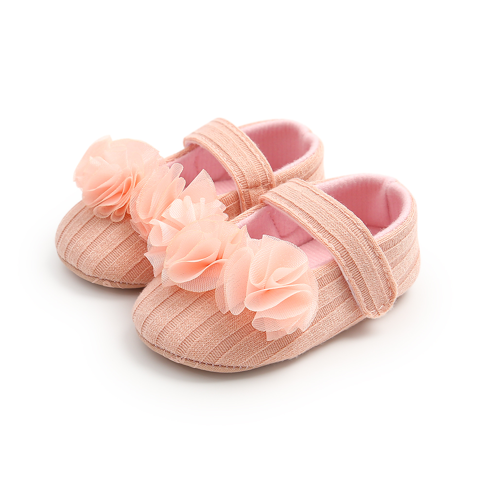 0-18M Infant Newborn Baby Girls Crib Shoes Solid Lace Flower Princess Cute Toddler Baby Girls Shoes Red Black