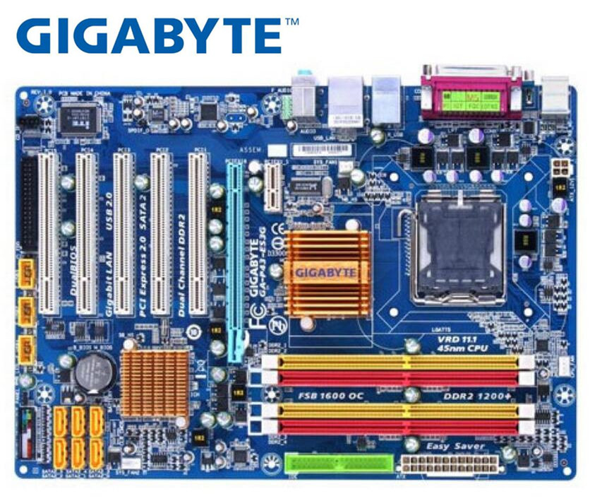 Gigabyte GA-P43-ES3G original todo o estado sólido placa-mãe de mesa ddr2 para intel lga775 p43 gigabit ethernet