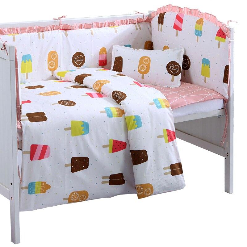 6/9PCS Baby Room Decor Kids Bedding Girls Bedroom Protector De Cuna Crib Baby Bed Bumper ,120*60/120*70cm