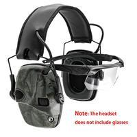Sighlines esponja orelha almofada earmuffs tiro eletrônico anti ruído de amplificação de som caça audição protectiontactical fone de ouvido|Protetor auricular| |  -
