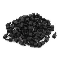 100x Motherboard Nylon Hex Standoff Threaded Spacer M3 Thread 6+6mm Black zndiy bry m3 x 28 6mm hex nylon spacers pillars for multicopter rc models black 10pcs