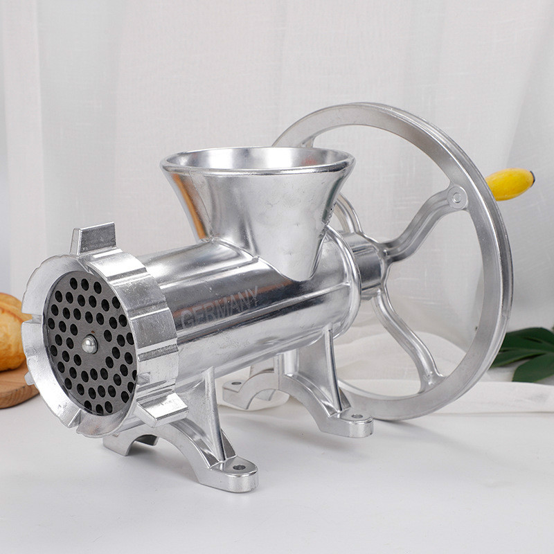 12# Hand Crank Meat Grinder Slicer Manual Sausage Stuffer Filler Machine Mincer Aluminum Alloy Noodle Cutter Nut Miller Chopper
