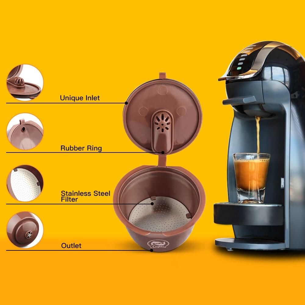 ل دولتشي غوستو القهوة كوب فلتر قابلة لإعادة الاستخدام كبسولات القهوة مرشحات متوافقة ل dolcager sto مع ملعقة فرشاة اكسسوارات المطبخ|Coffee Filters| - AliExpress