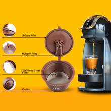 Cápsulas de café reutilizables para Dolce Gusto, máquina de café con cuchara, cepillo, versión Normal y creador de Crema