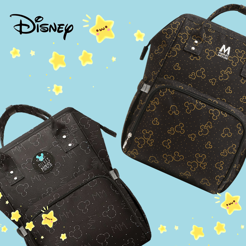 Disney Starry Sky Diaper Bag USB Mickey Stroller Mummy Backpack Baby Care Bags Large Capacity Maternity Nappy Bag Travel Hook