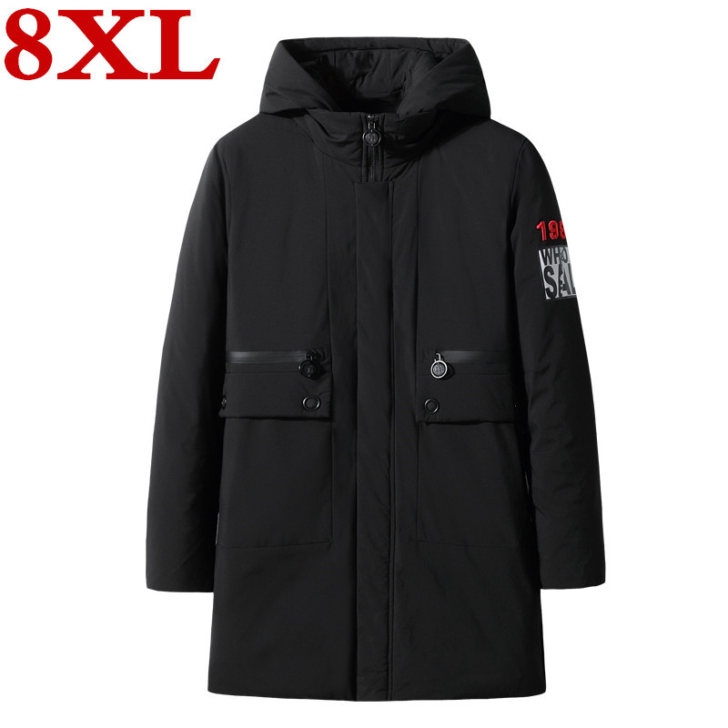 New Plus Size  8XL 7XL Mens  Long  Down Jacket Coat  Brand New Male  Casual Winter Down Parka Men Thick Down Jacket Overcoat