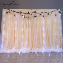 Wedding Backdrop Gauze Hanging Curtains Ice Silk Cloth Curtain Birthday Shower Scene Layout Event Party Supplies Props 18 Colors