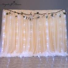 Toile de fond de mariage gaze suspendus rideaux glace soie tissu rideau anniversaire douche scène mise en page événement fête fournitures accessoires 18 couleurs