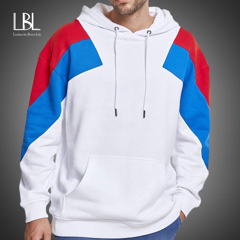 Fashion Brand Men's Fleece Hoodies 2020 Spring Autumn Male Casual Hoodies Sweatshirts Men's Solid Color Hoodies Sweatshirt Tops