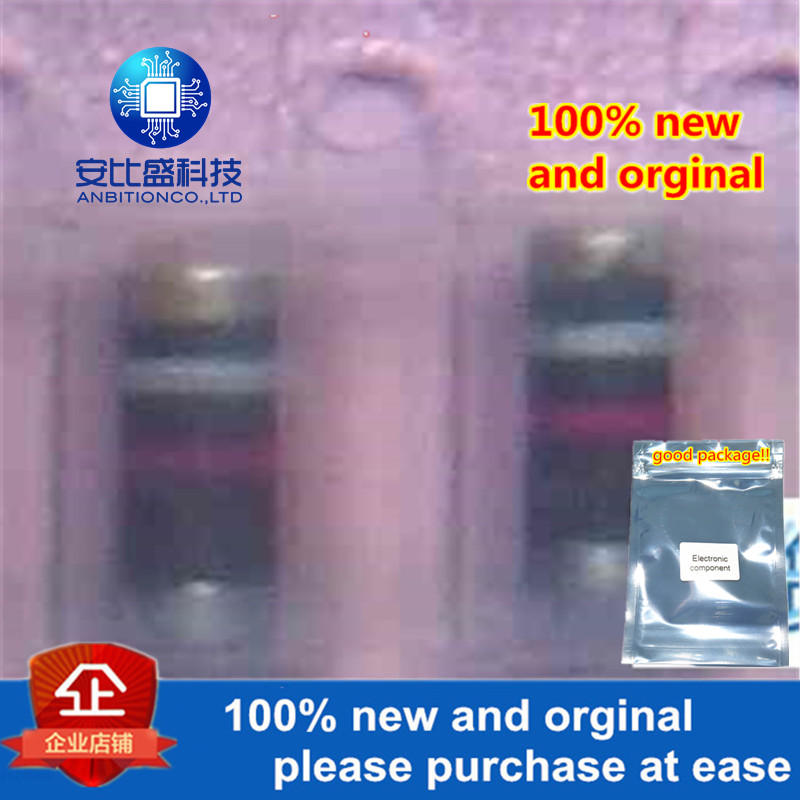 50pcs 100% New And Orginal GL34B DO213AA Silkl-screeen White Red Glass Passivated Bicolor Ring Cylindrical Diode  In Stock