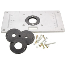 Table-Plate Router Trimmer Woodworking-Tools 4-Insert-Rings Multifunctional Aluminium-Alloy