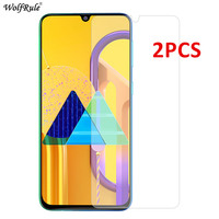 2PCS Glass For Samsung Galaxy C5 A70 A50 A40 A10 A10S Screen Protector Tempered Glass For Samsung Galaxy M30S Glass Phone Film