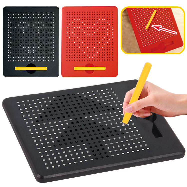 Magnetic Tablet Magnet Drawing Board Steel Bead Stylus Pen Pop Bead Learning Educational Writing Toys For Children Gift