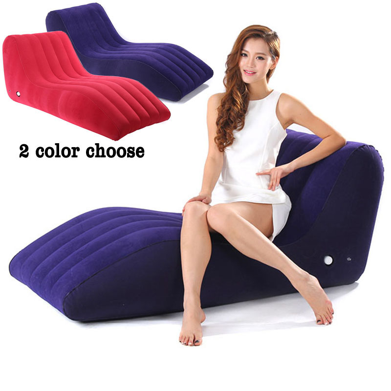 S-Shape Inflatable Sofa Chair Furniture Sex Toys For Couples Adult Games Cushion Position Love Lounge Chair