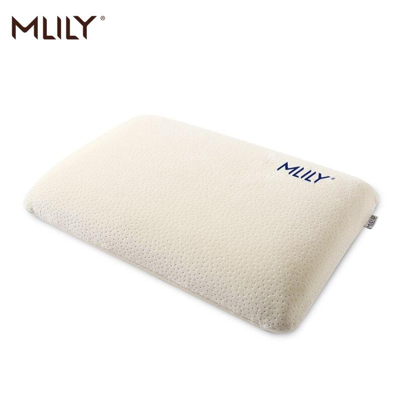 Mlily Memory Foam Pillow Hypoallergenic Ergonomic Certipur Contour Pillow Manchester United AirCell Technology Pillow