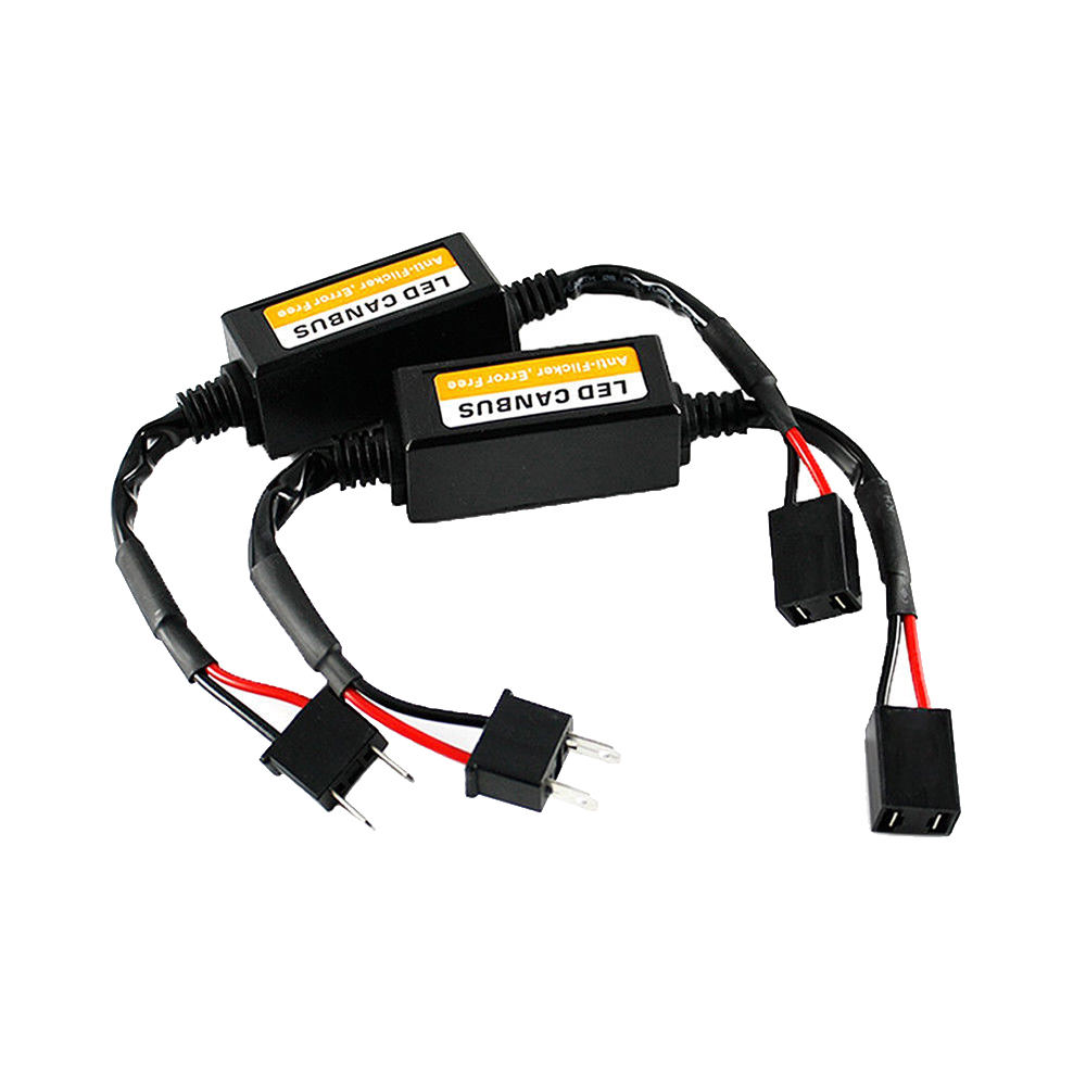 2x H7 Car LED Load Resistor CAN Bus CANBus Decoder Error Free Canceller Adapter