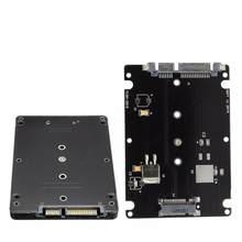 Conversor caixa adaptador b + m soquete 2 m. 2 ngff (sata) ssd para 2.5 adaptador de cartão sata, com caixa preta