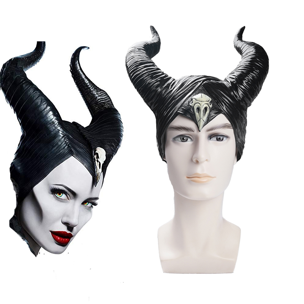 Snailify Maleficent : Mistress Of Evil 2 Maleficent Costume Horns Witch Horn Latex Headwear Angelina Jolie Helmet