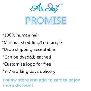 Image 5 - Ali Sky волосы перуанские объемные волны 3 пряди с закрытием предварительно выщипанные волосы 5x5 закрытие с пряди плетение Remy волосы для наращивания