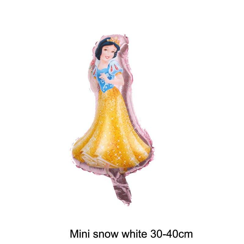 9 sztuk cartoon mini księżniczka balony na imprezę belle z balonów foliowych księżniczka śnieżka balony urodzinowe roszpunka balon