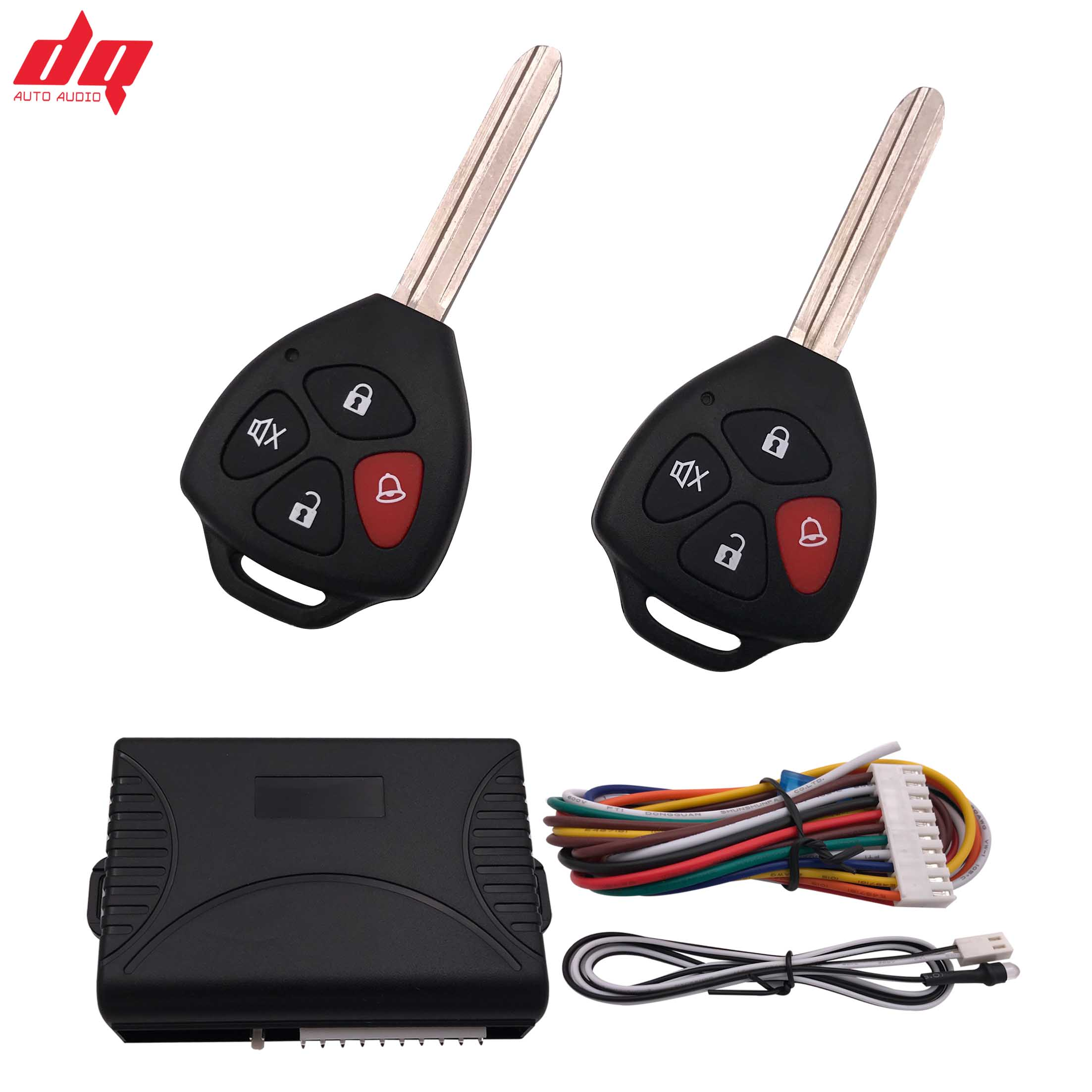 For Toyota Car Alarm System Auto Remote Central Kit Door Lock Locking System With Key Central Locking With Remote Control