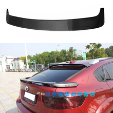 X6 E71 Carbon Fiber Rear Roof Lip Spoiler wing for BMW E71 X6 2008-2014 HM Style x6 e71 carbon fiber car rear trunk lip spoiler wing for bmw 2008 2013
